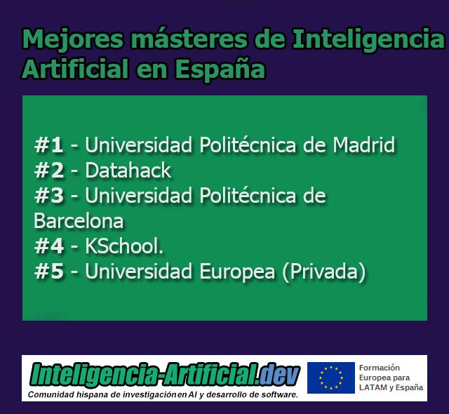 Mejores Másters de Inteligencia Artificial en España